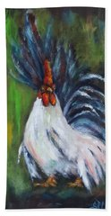 Lady Pleaser, Rooster  Hand Towel