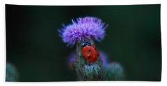 Ladybug Hand Towel by Jeff Swan