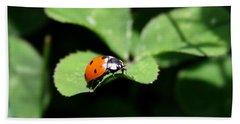 Ladybug Hand Towel by Karen Harrison