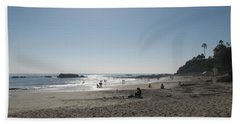 Hand Towel featuring the photograph Laguna Beach Afternoon by Connie Fox