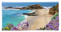 Laguna Beach Coastline Bath Towel