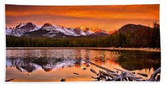 Lake Bierstadt In The Morn Hand Towel by Steven Reed