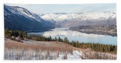 Lake Chelan In Winter Bath Towel