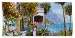 Lake Como-la Passeggiata Al Lago Bath Towel
