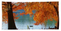 Lake Ella Morning Hand Towel by Gail Kent