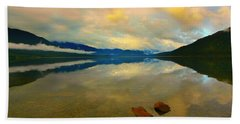 Lake Kaniere New Zealand Hand Towel by Amanda Stadther