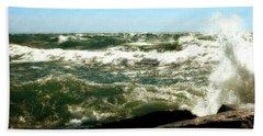 Lake Michigan In An Angry Mood Bath Towel