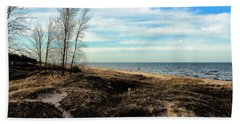 Hand Towel featuring the photograph Lake Michigan Shoreline by Lauren Radke