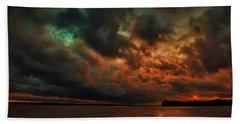 Lake Murray Fire Sky Bath Towel