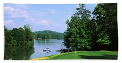 Lake On A Golf Course, Legend Course Hand Towel by Panoramic Images