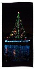 West End Boat Parade - Lights On The Lake, Lake Pontchartrain, New Orleans La Hand Towel