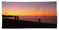 Lake Pontchartrain Sunset Bath Towel