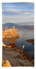Lake Powell From Alstrum Pt 12 Bath Towel by Jeff Brunton