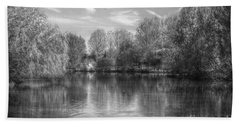 Bath Towel featuring the photograph Lake Reflections Mono by Jeremy Hayden