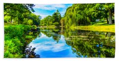 Lake Scene Bath Towel