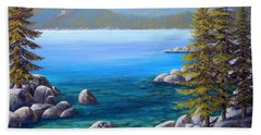 Lake Tahoe Inlet Hand Towel