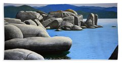 Lake Tahoe Rocky Cove Hand Towel