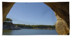 Lake Texoma Eisenhower State Park  Texas Bath Towel by Charles Beeler