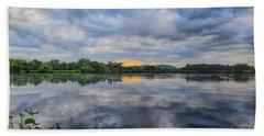 Lake Wausau Summer Sunset Panoramic Bath Towel