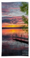 Lake Winnisquam Sunrise 2 Bath Towel by Mike Ste Marie