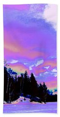 Winter  Snow Sky  Hand Towel