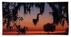 Lakefront Sunset Hand Towel