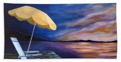 Lakeside Sunset Bath Towel by Michelle Joseph-Long