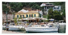 Lakka Harbour On Paxos Hand Towel