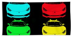 Lambo Pop Art Hand Towel by J Anthony