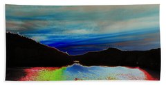 Landscape Abstract Bath Towel by Mike Breau