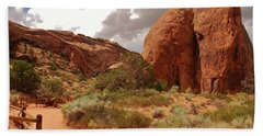 Landscape Arch - Utah Hand Towel by Dany Lison