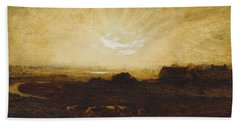 Landscape At Sunset Hand Towel