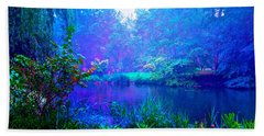 Blue Landscape Bath Towel