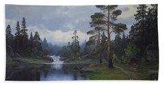 Landscape From Norway Bath Towel