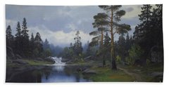 Landscape From Norway Bath Towel