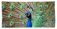 Landscape Peacock Hand Towel