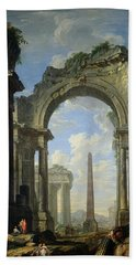 Landscape With Ruins Hand Towel