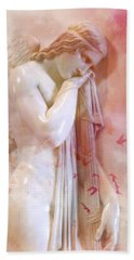 Hand Towel featuring the photograph L'angelo Celeste by Micki Findlay