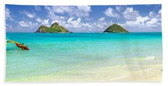 Lanikai Beach Paradise 3 To 1 Aspect Ratio Hand Towel by Aloha Art