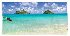 Lanikai Beach Paradise 3 To 1 Aspect Ratio Bath Towel