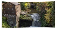 Bath Towel featuring the photograph Lantermans Mill by Dale Kincaid