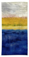 Lapis And Gold Get Married Bath Towel