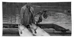 Large King Salmon Moss Landing Monterey California  Circa 1955 Hand Towel