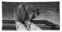 Large King Salmon Moss Landing Monterey California  Circa 1955 Bath Towel