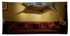 Large Swordfish Above A Sofa Hand Towel