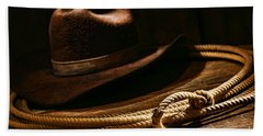 Lariat And Hat Hand Towel