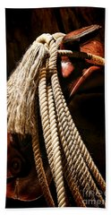 Lariat On A Saddle Hand Towel