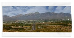 Las Cruces New Mexico Panorama Hand Towel by Jack Pumphrey
