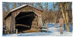 Last Covered Bridge Hand Towel by Susan  McMenamin