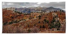 Last Of The Fall Colors In The Wasatch Range Hand Towel